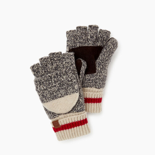 Roots-Women Categories-Womens Roots Cabin Flip Mitt-Grey Oat Mix-A