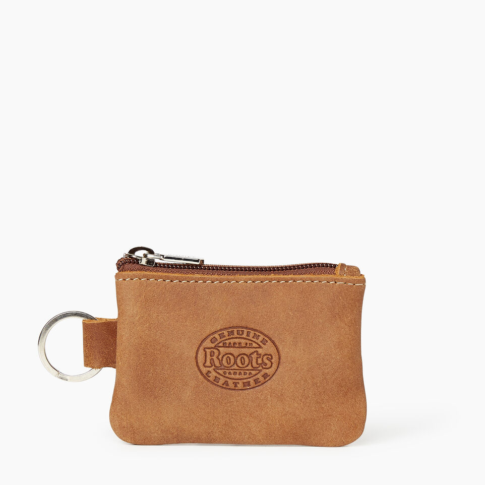 Roots-Leather  Handcrafted By Us Our Favourite New Arrivals-Maple Leaf Top Zip Pouch-Natural-B