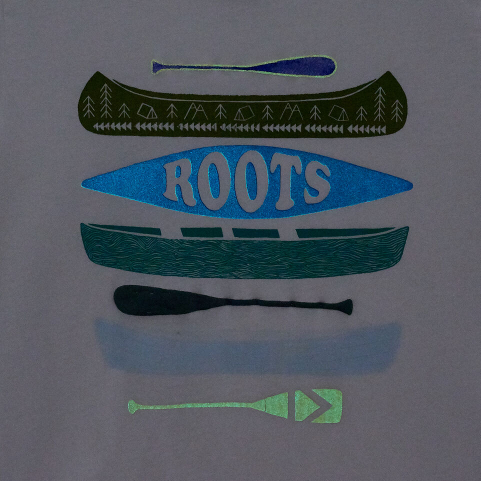 Roots-New For May Kids-Boys Glow In The Dark T-shirt-Ivory-C