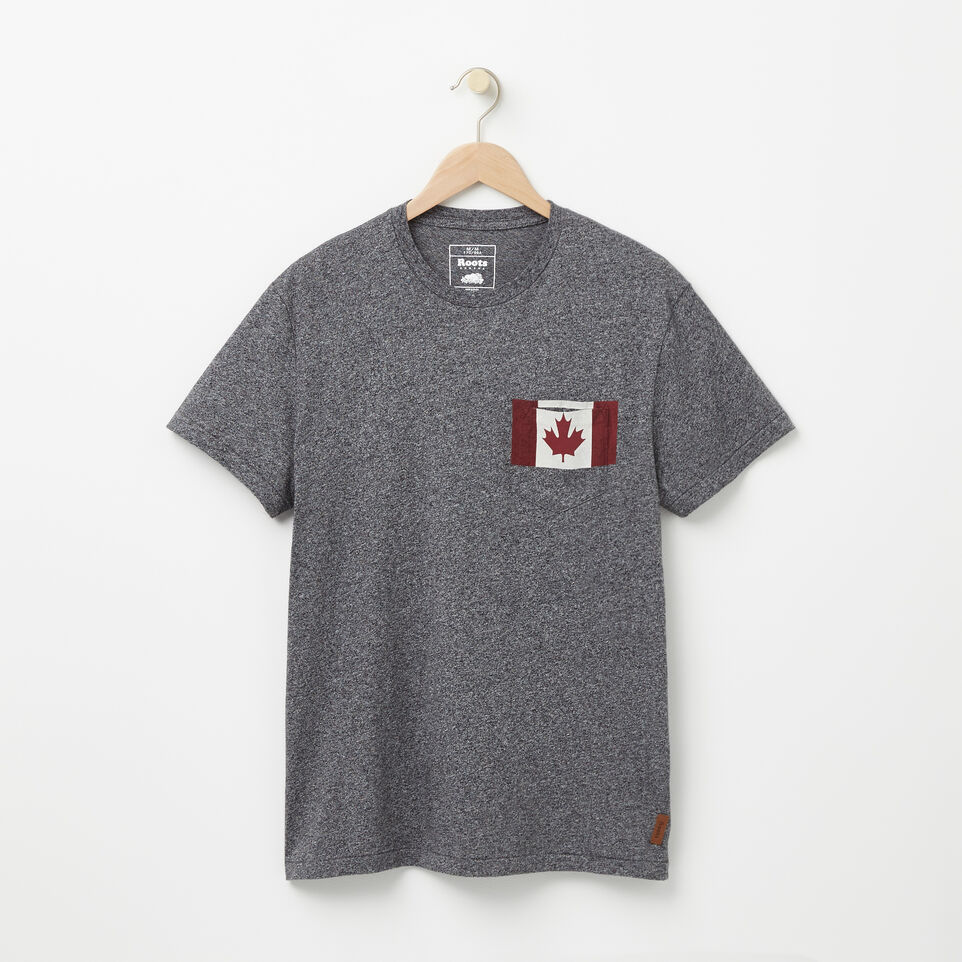 Roots-undefined-Flag Pocket T-shirt-undefined-A