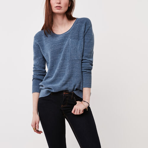 Roots-Women Sweaters & Cardigans-North Twin Sweater-Flint Stone Mix-A