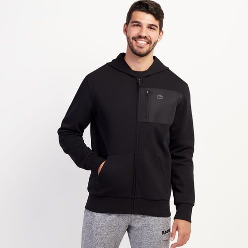 Roots-New For November Journey Collection-Journey Full Zip Hoody-Black-A