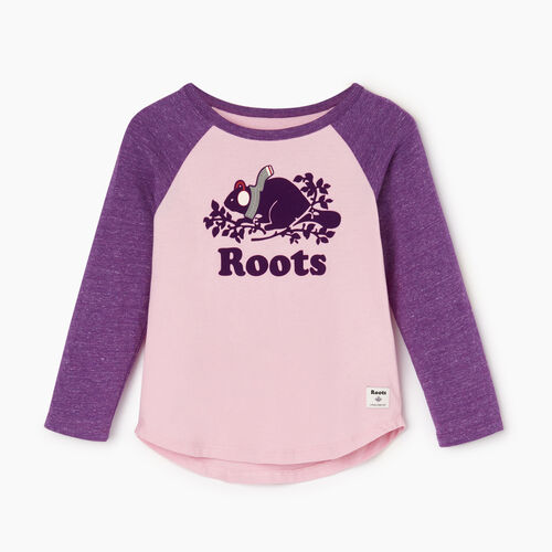 Roots-Kids Our Favourite New Arrivals-Toddler Buddy Raglan T-shirt-Grape Royale Pepper-A