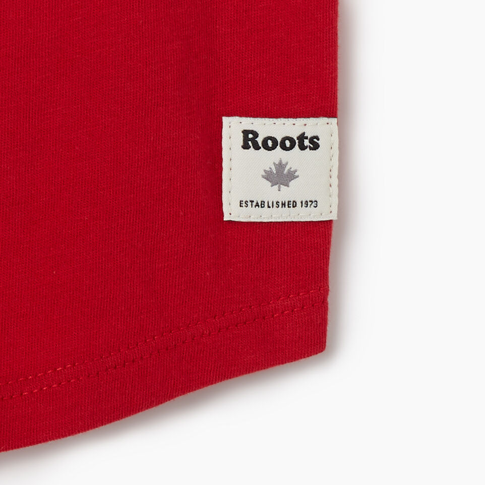 Roots-Kids New Arrivals-Toddler Canadian Girl T-shirt-Sage Red-D