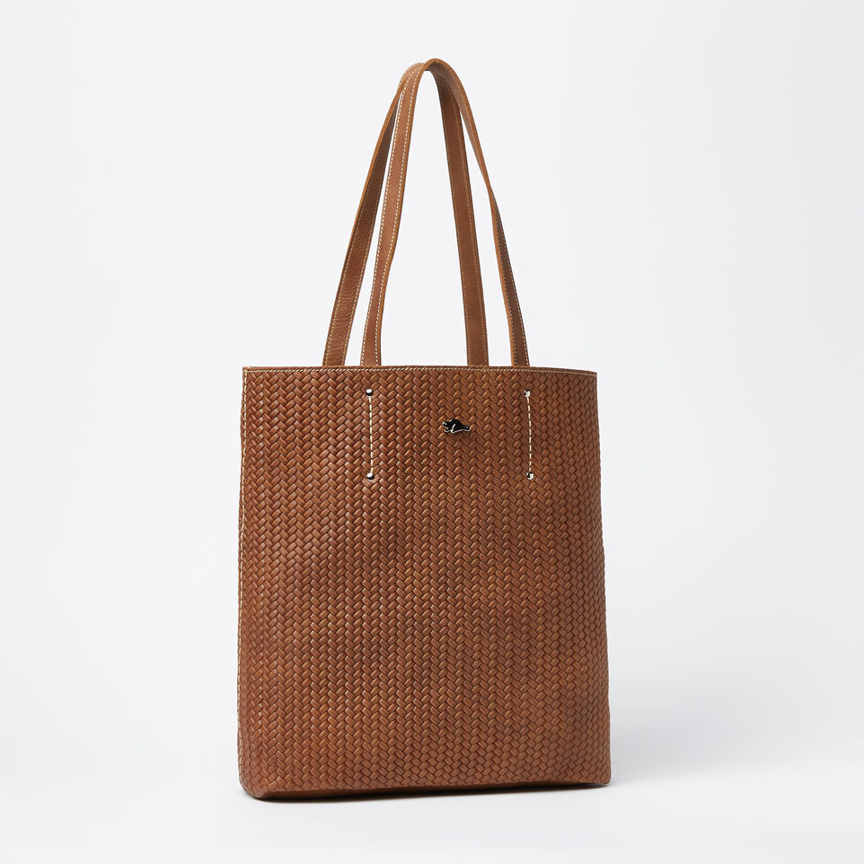 Roots-Large Downtown Tote Woven Tribe