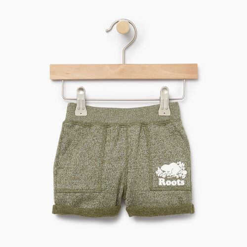 Roots-Clearance Kids-Baby Park Short-Winter Moss Pepper-A