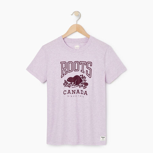 Roots-Women Categories-Womens Classic Roots Canada T-shirt-Lupine Mix-A