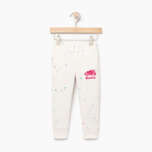 Roots-Clearance Kids-Toddler Splatter Sweatpant-Cannoli Cream-A