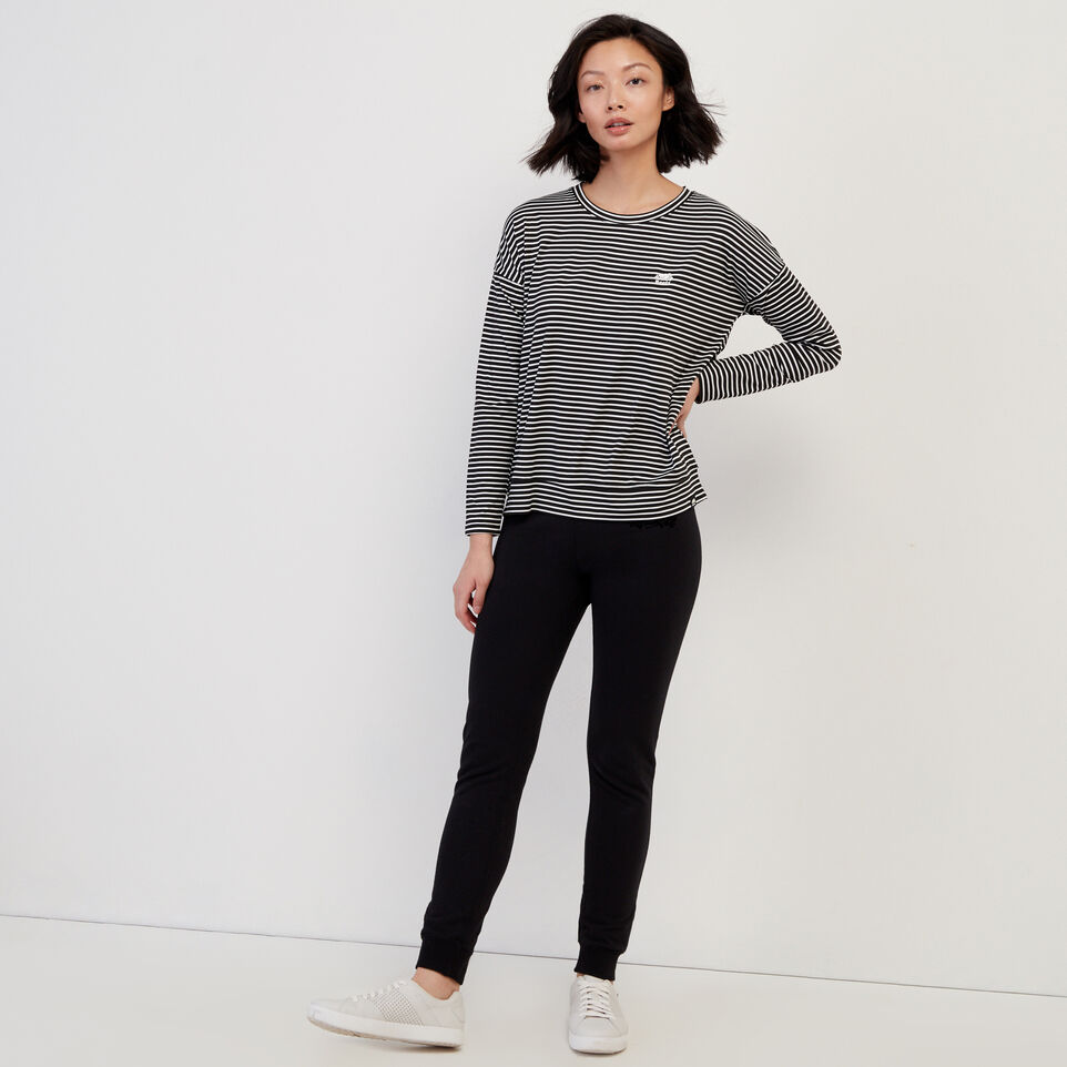 Roots-Women Our Favourite New Arrivals-Journey Long Sleeve Top-White-B