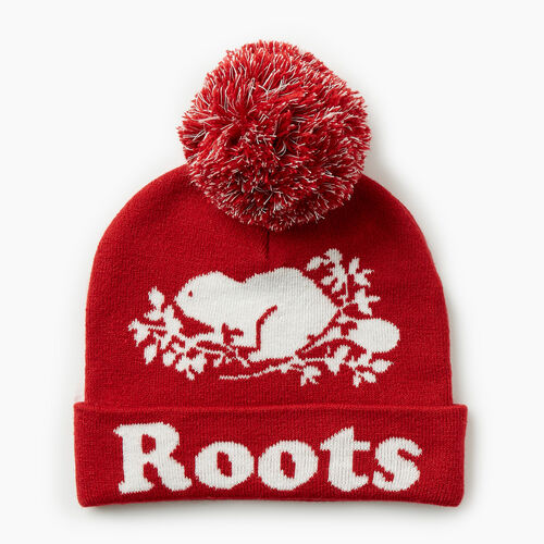 Roots-Gifts Gifts For Kids-Kids Cooper Glow Toque-Cabin Red-A
