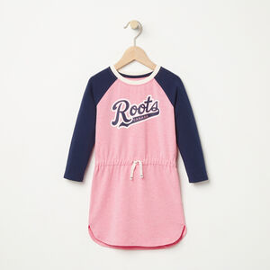 Roots-Kids Toddler Girls-Toddler Tracy Script Dress-Sea Pink Mix-A