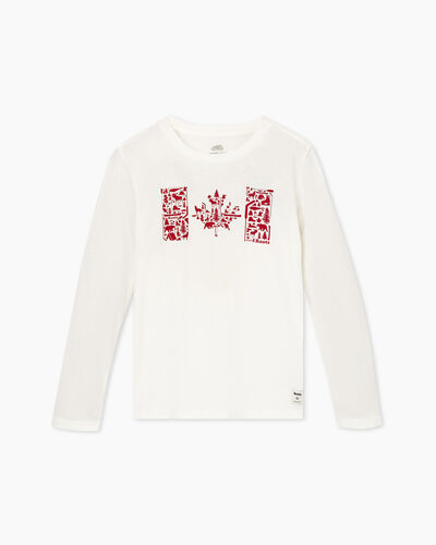 Roots-Kids T-shirts-Boys Flag Fill Canadiana T-shirt-Ivory-A