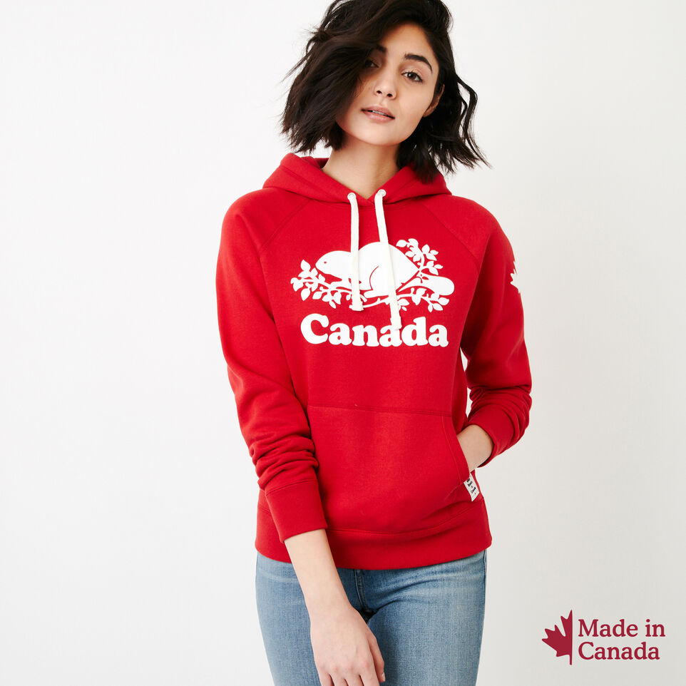 Roots-Women Canada Collection By Roots™-Womens Cooper Canada Hoody-Sage Red-A