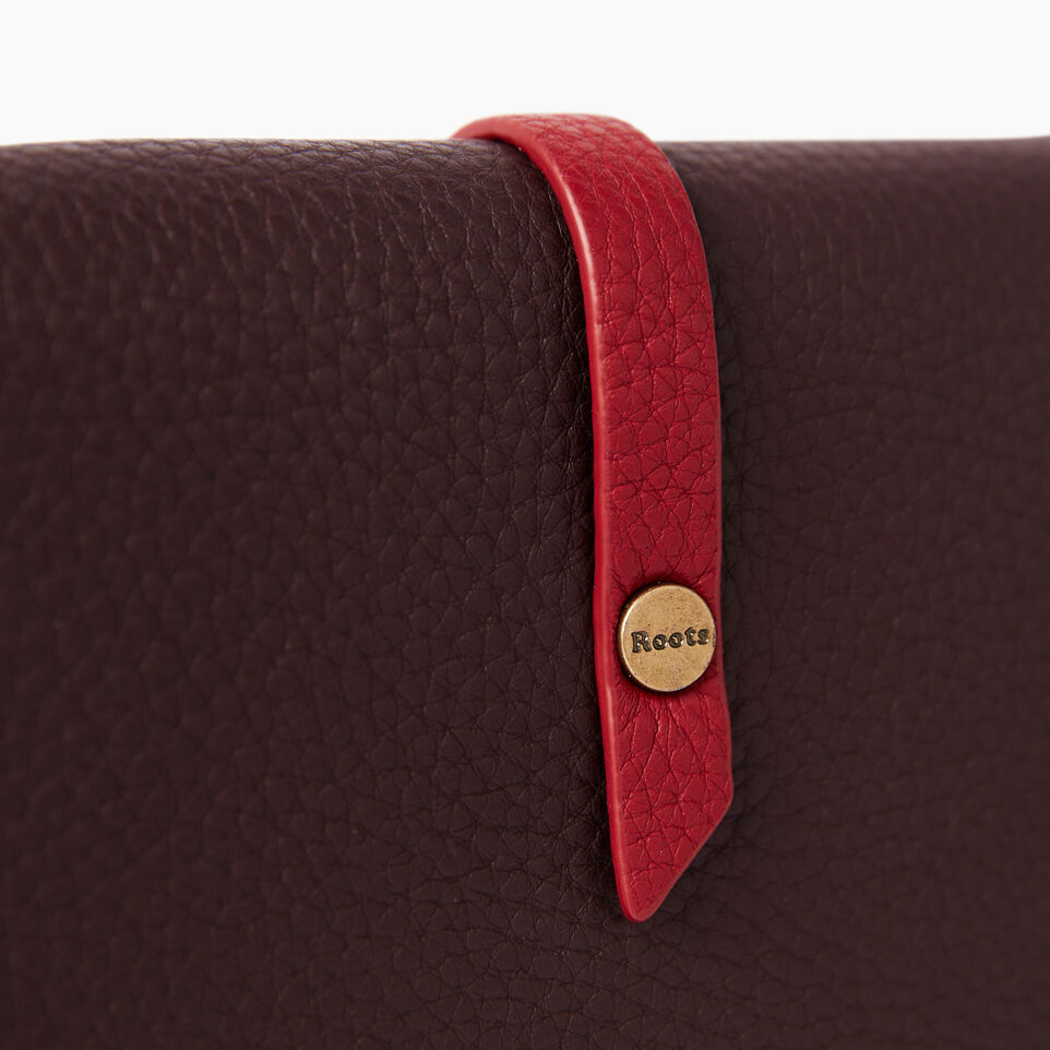 Roots-Leather Wallets-Large Stella Wallet Bag-Raspberry Wine-D