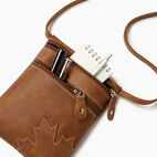 Roots-Leather Canada Collection By Roots™-Trans Canada Pouch-Natural-D