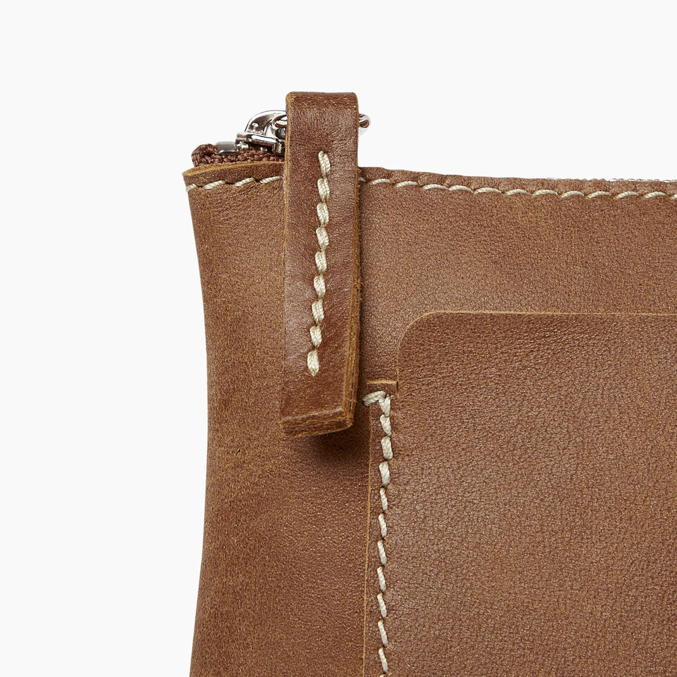Roots-Leather  Handcrafted By Us Collections-Carrier Pouch-Natural-C