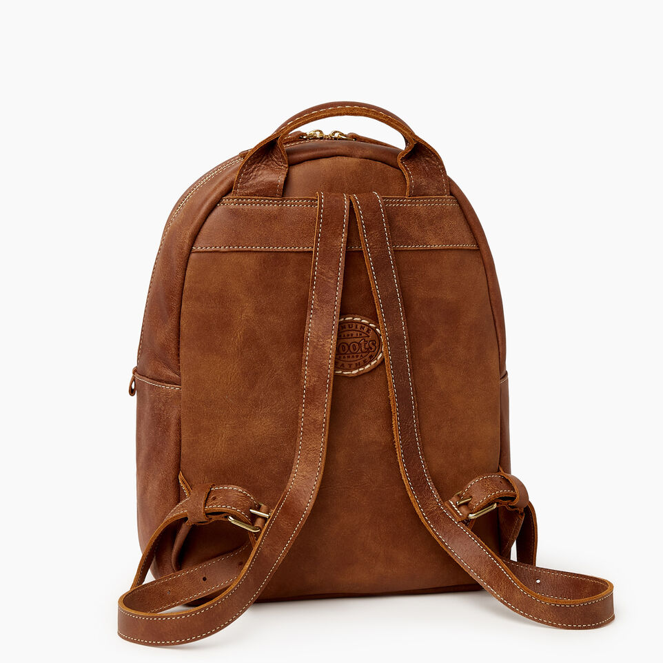 Roots-Leather Backpacks-Chelsea Pack Tribe-Natural-C
