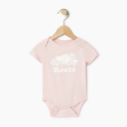 Roots-Clearance Kids-Baby Cooper Beaver Bodysuit-Pink Mist Mixpink-A