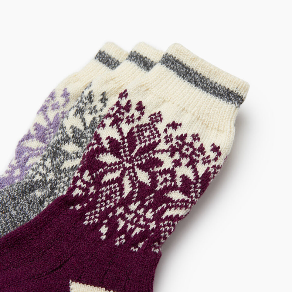 Roots-Kids Girls-Kids Elsa Cabin Sock 3 Pack-Purple-C