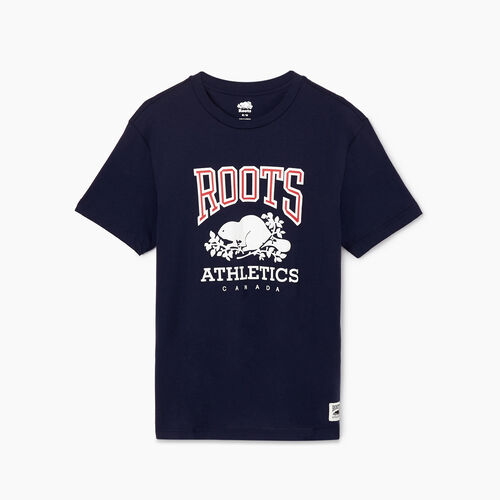 Roots-Men Our Favourite New Arrivals-Mens RBA T-shirt-Navy Blazer-A