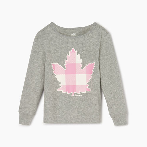 Roots-Kids Toddler Girls-Toddler Roots Maple Sleep Top-Grey Mix-A