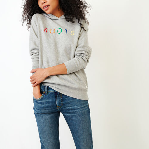 Roots-Women Our Favourite New Arrivals-Spectrum Kanga Hoody-Grey Mix-A