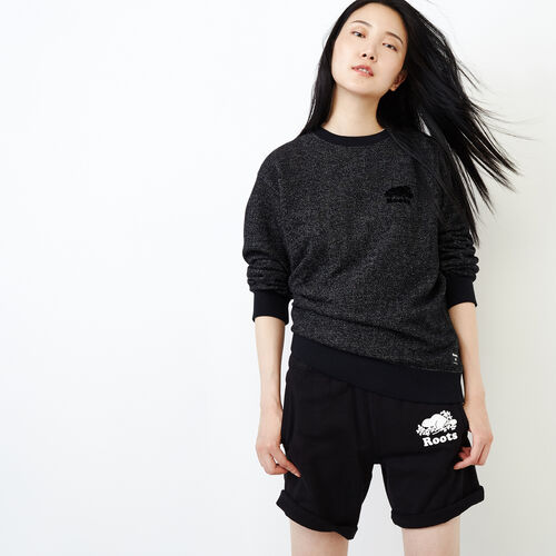 Roots-Women Our Favourite New Arrivals-Original Boyfriend Crew Sweatshirt-Black Pepper-A