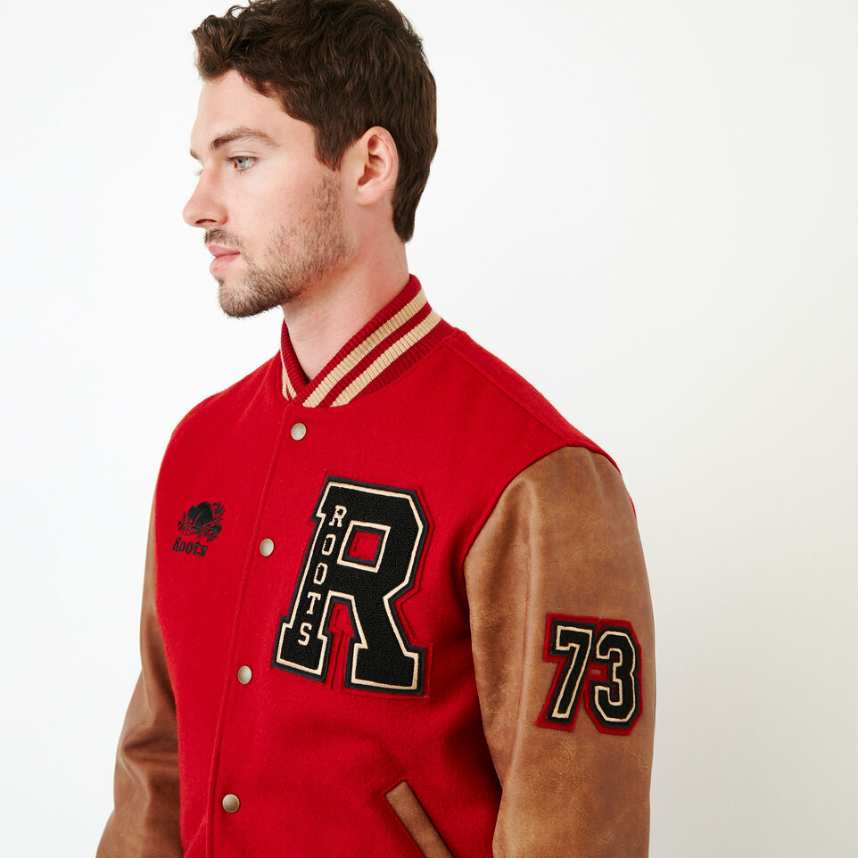 Roots-Men Award Jackets-Roots Script Award Jacket-Red-E