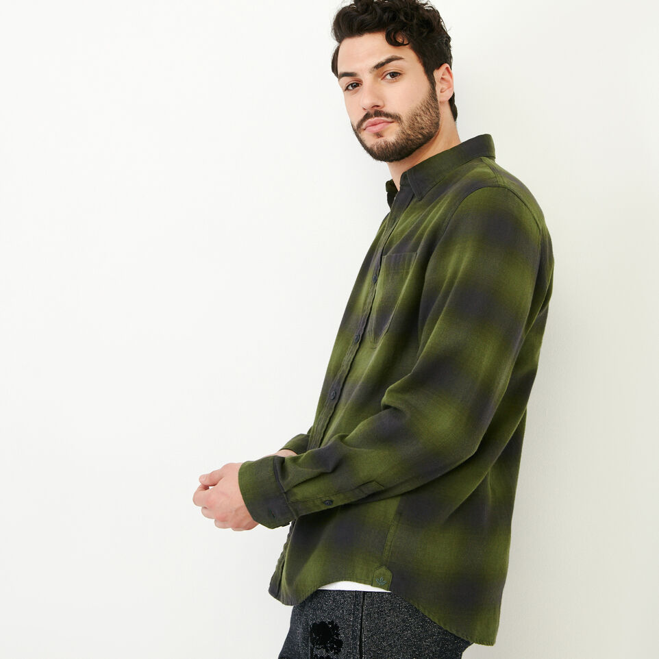 Roots-Men Our Favourite New Arrivals-Wallace Flannel Shirt-Fatigue-C