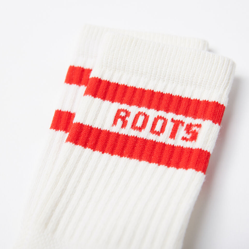 Roots-undefined-Womens Retro Crew Sock-undefined-B