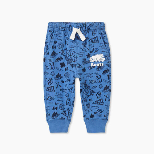 Roots-Kids Baby-Baby Camp Park Slim Sweatpant-Federal Blue-A