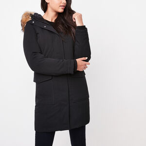 Roots-Women Jackets-Point Peele Down Parka-Black-A