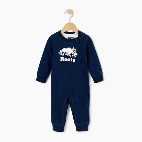 Roots-Kids Our Favourite New Arrivals-Baby Original Cooper Beaver Romper-Active Blue Pepper-A
