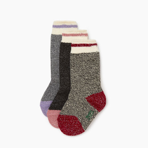 Roots-Kids Girls-Kid Girl Sparkle Cabin Sock 3 Pack-Multi-A