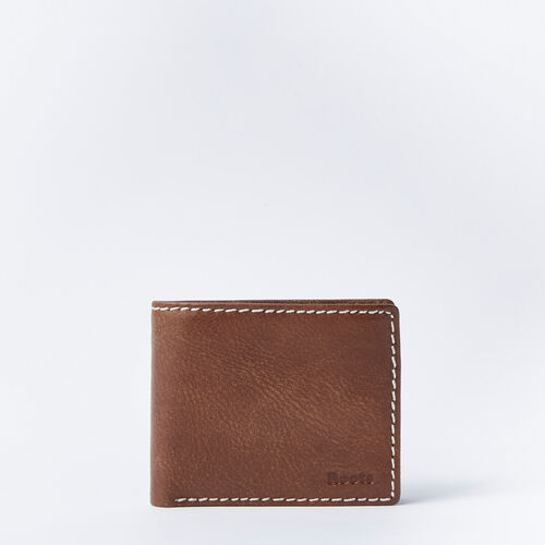 Roots-Men Wallets-Mens Slimfold With Coin Tribe-Natural-A