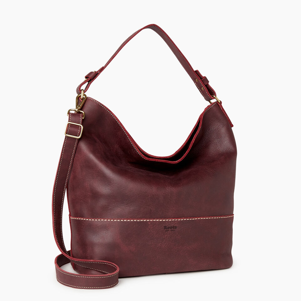 Roots-Leather Our Favourite New Arrivals-West End Hobo-Crimson-C
