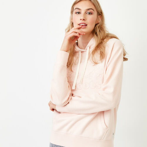 Roots-Women Tops-Weymouth Hoody-Veiled Rose-A