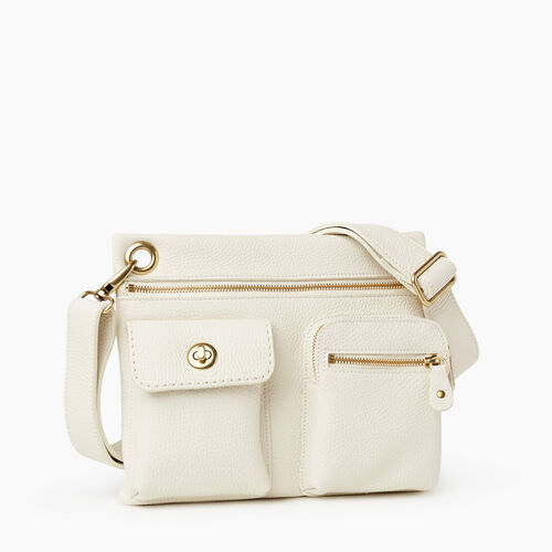 Roots-Women Crossbody-Village Bag Parisian-Ivory-A