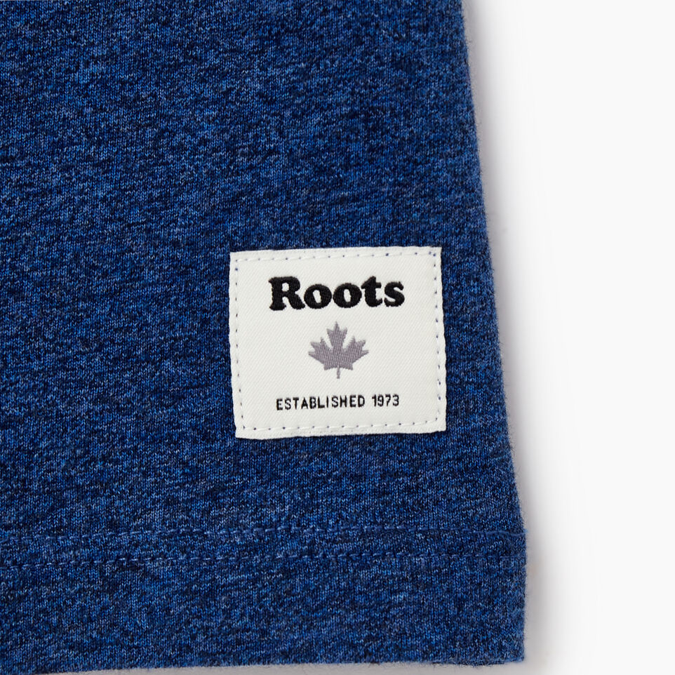 Roots-Women Clothing-Womens Classic Roots Canada T-shirt-Olympus Blue Mix-C