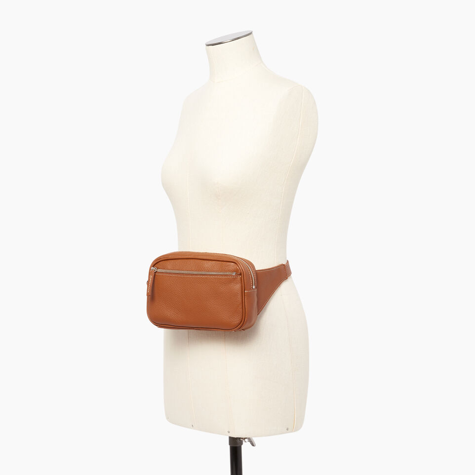 Roots-Leather  Handcrafted By Us Our Favourite New Arrivals-Roots Belt Bag-Caramel-B