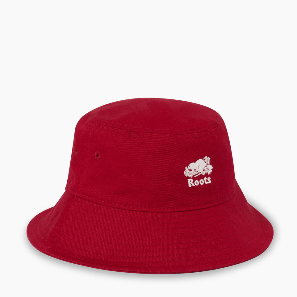 Roots-Clearance Kids-Toddler Canada Leaf Bucket Hat-Sage Red-C