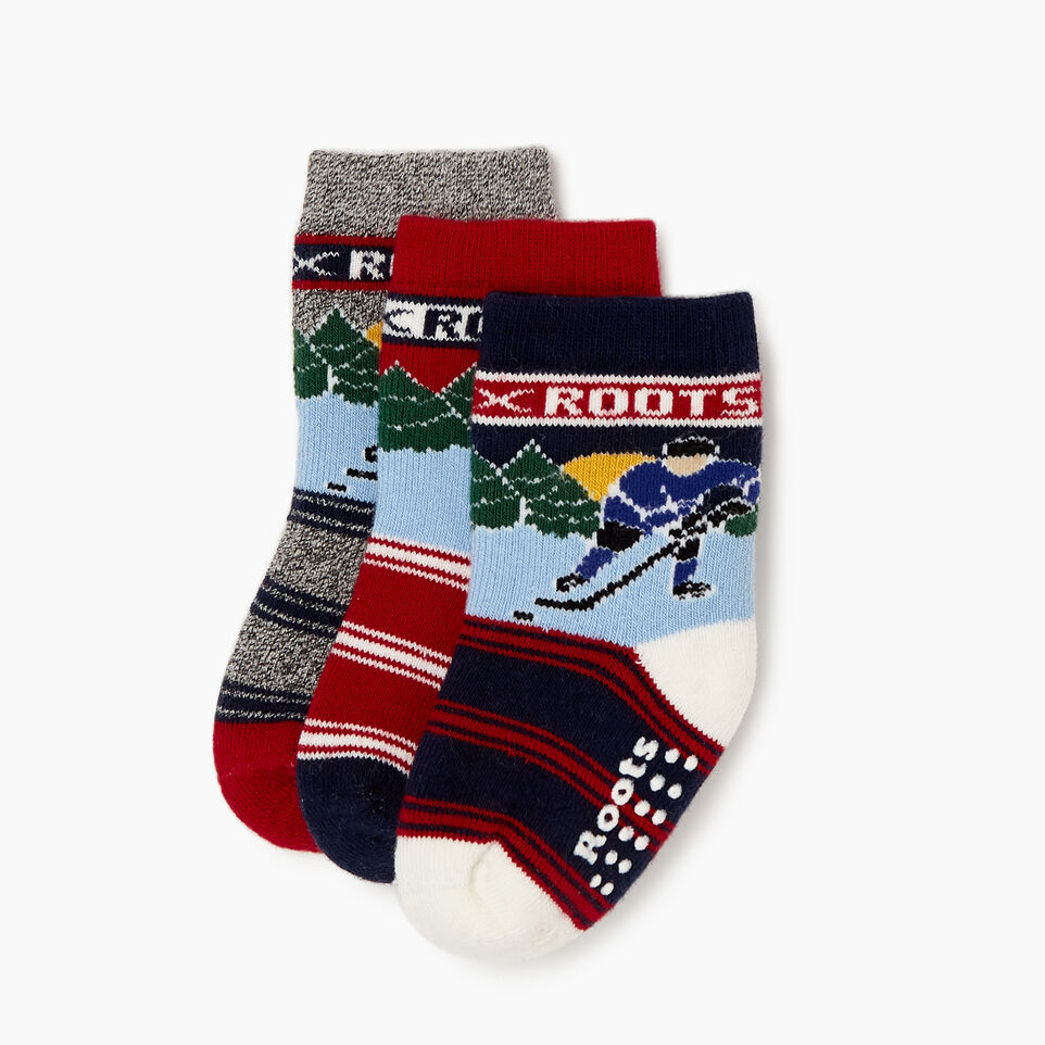 Roots-undefined-Toddler Winter Break Sock 3 Pack-undefined-B