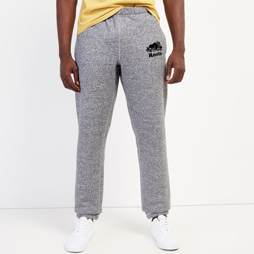 Roots-Men Bottoms-Original Slim Sweatpant-Salt & Pepper-A