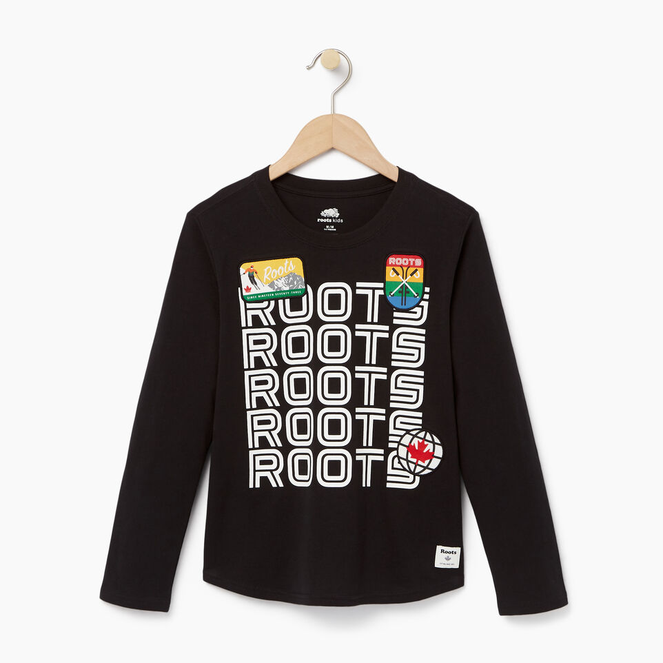 Roots-undefined-Boys Ski Patch T-shirt-undefined-A