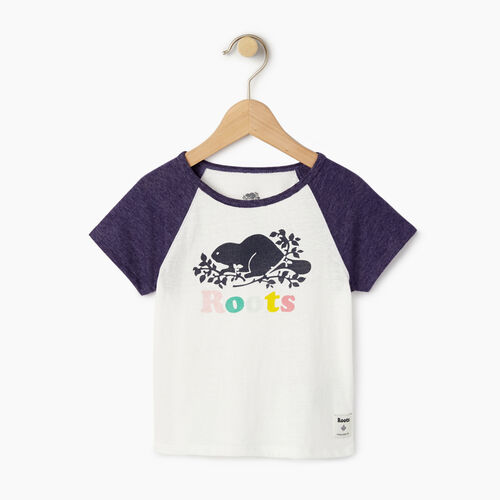 Roots-Clearance Kids-Toddler Cooper Beaver Raglan Top-Eclipse-A