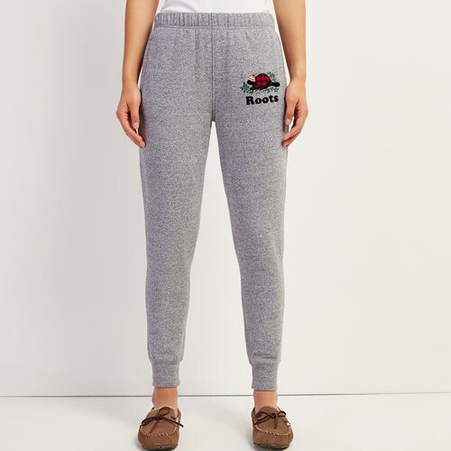 Roots-New For November Online Exclusives-Cozy Buddy Slim Sweatpant-Salt & Pepper-A