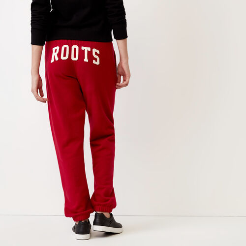 Roots-Women Bottoms-Womens Original Boyfriend Sweatpant-Cabin Red-A