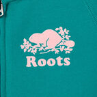 Roots-Kids New Arrivals-Girls Original Full Zip Hoody-Dynasty Turquoise-C