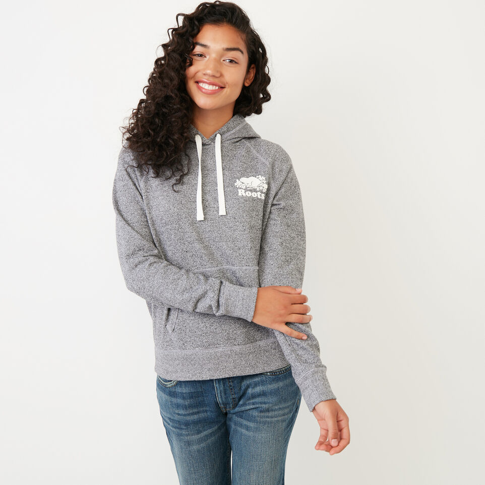 Roots-Women New Arrivals-Roots Salt and Pepper Kanga Hoody-Salt & Pepper-A