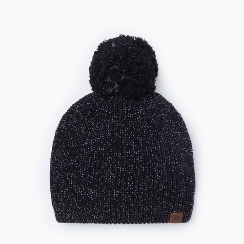 Roots-Gifts Accessory Sets-Snowy Fox Pom Pom Toque-Black Fox-A